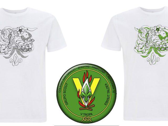 f2f1f1d9a8459 Camisetas ecológicas para Grupo Scout V Tropa