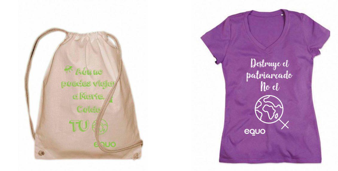 5a5ce2e47 Camisetas y Mochilas 100% algodón orgánico. Camisetas Ecologicas  Colaboraciones bolsas ...